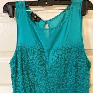 Green top with ruffle